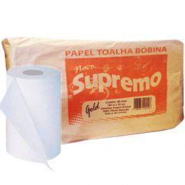 Papel Toalha Bobina Supremo Gold 8 Rolos x 100 Metros